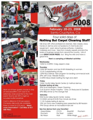 "one of the greatest moments in Carpet Cleaning ""Fests"" history.."