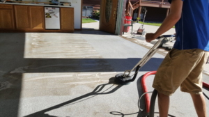 Epoxy shop floor cleaning today!